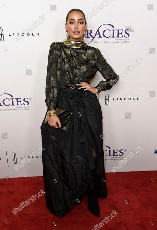 Chelsea Gilligan arrives at the 43rd annual Gracie Awards at the Beverly Wilshire Hotel, in Beverly Hills, Calif