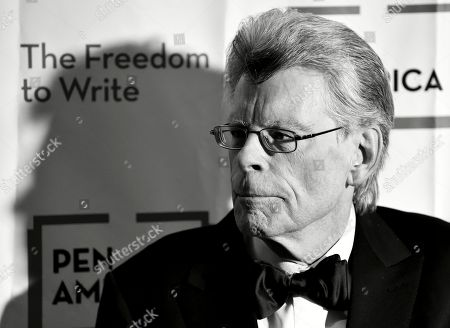 EDITORS NOTE: Image has been converted to black and white.) PEN America literary service award recipient Stephen King attends the 2018 PEN Literary Gala at the American Museum of Natural History, in New York