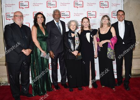 Sean Kelly, Roxanne Donovan, Morgan Freeman, Margaret Atwood, Suzanne Nossel, Jennifer Egan, Markus Dohle. Sean Kelly, left, Roxanne Donovan, Morgan Freeman, Margaret Atwood, Suzanne Nossel, Jennifer Egan and Markus Dohle attend the 2018 PEN Literary Gala at the American Museum of Natural History, in New York
