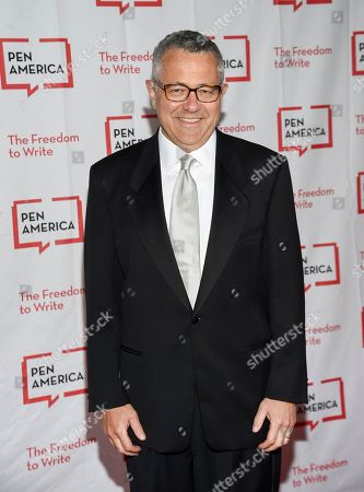 Stock Picture of Lawyer and author Jeffrey Toobin attends the 2018 PEN Literary Gala at the American Museum of Natural History, in New York