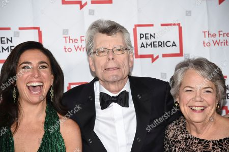 Roxanne Donovan, Stephen King, Carolyn Reidy. Roxanne Donovan, left, author Stephen King and Simon & Schuster president Carolyn Reidy attend the 2018 PEN Literary Gala at the American Museum of Natural History, in New York