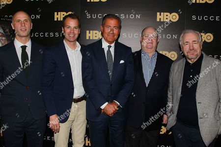 Jesse Armstrong, Casey Bloys, Richard Plepler, Frank Rich and Brian Cox
