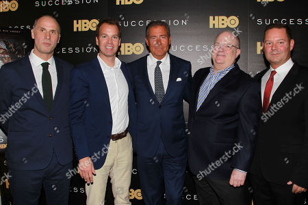 Jesse Armstrong, Casey Bloys, Richard Plepler, Frank Rich and Kevin Messick