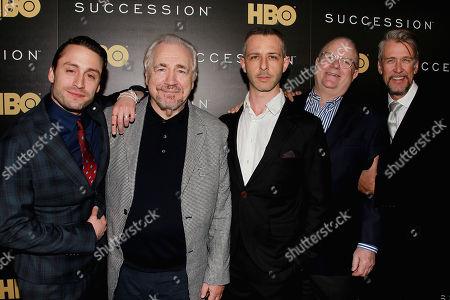 Kieran Culkin, Brian Cox, Jeremy Strong, Frank Rich and Alan Ruck