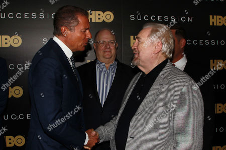 Richard Plepler, Frank Rich and Brian Cox