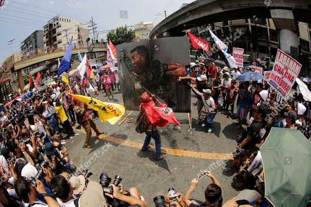 Protest marking st anniversary marawi seige manila stock photos