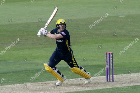 Jimmy Adams hits 4 runs for Hampshire during Hampshire vs Essex Eagles, Royal London One-Day Cup Cricket at the Ageas Bowl on 23rd May 2018
