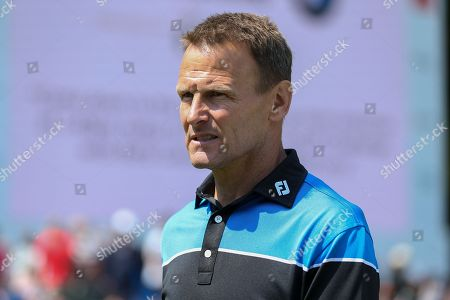Teddy Sheringham during the Celebrity Pro-Am day at Wentworth Club, Virginia Water. Picture by Phil Duncan