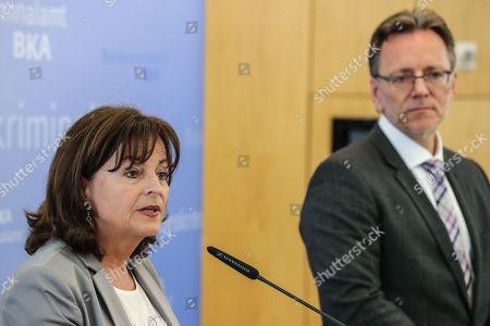 Stock Image of Holger Muench and Marlene Mortler
