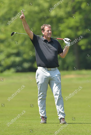 Matt Le Tissier, former footballer shouts ?Fore!? playing in The Pro-Am.