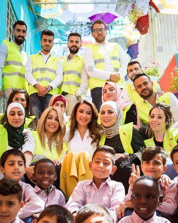 Queen Rania visits Dar Al Aytam Society in Marka