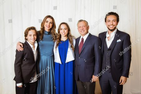Their Majesties King Abdullah II, Queen Rania and Their Royal Highnesses Crown Prince Al Hussein and Prince Hashem