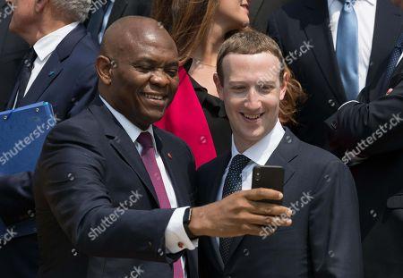 Mo Ibrahim and Mark Zuckerberg