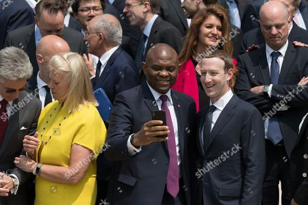 CEO Virginia Rometty, Mo Ibrahim and Mark Zuckerberg