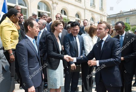Isabelle Kocher and Emmanuel Macron
