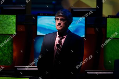 Comedian and journalist Mo Rocca hosts the 30th National Geographic Bee Championship final round at the National Geographic Society in Washington