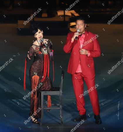 Susana Zavaleta and Amaury Gutierrez