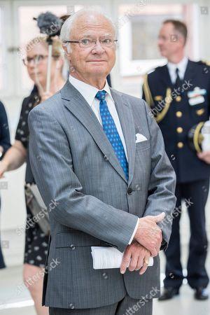 King Carl Gustaf visit to Sodertalje