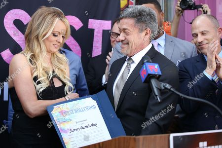 Editorial image of Stormy Daniels recieves a key to the city, Chi Chi LaRue's, Los Angeles, USA - 23 May 2018