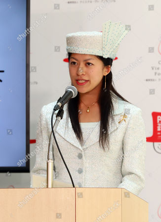 """Japan's Princess Tsuguko of Takamado delivers a speech as TV personality Christel Takigawa's animal welfare group """"Christel Vie Essemble Foundation"""" will start the new project """"Panel for Life"""" to reduce euthanasia of dogs and cats in Tokyo on Tuesday, May 22, 2018."""