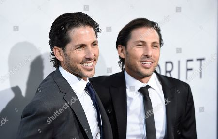 "Aaron Kandell, Jordan Kandell. C0-producers Aaron Kandell, left, and Jordan Kandell arrive at the Los Angeles premiere of ""Adrift"" at Regal Cinemas L.A. Live on"