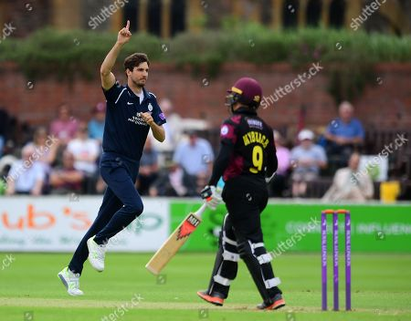 Editorial image of Somerset v Middlesex, Royal London One Day Cup, Cricket, The Cooper Associates County Ground, Taunton, UK - 27 May 2018