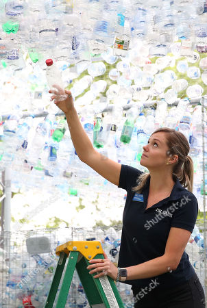 'Plastic Not So Fantastic' Art installation at London Zoo highlighting the perils of plastic pollution.