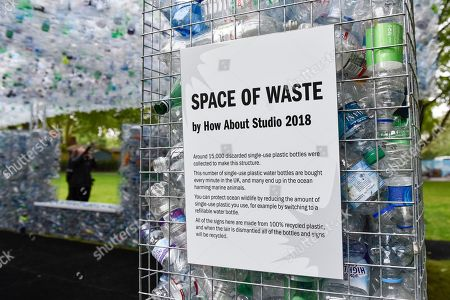 "Unveiling of an art installation called ""Space of Waste"" by architect Nick Wood, in ZSL London Zoo."