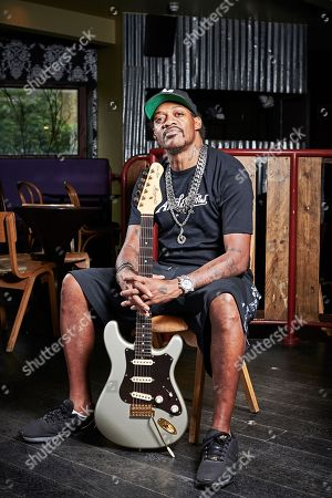 London United Kingdom - June 2: Portrait Of American Blues Rock Musician Eric Gales Photographed Before A Live Performance At Nell's Jazz And Blues In London On June 2