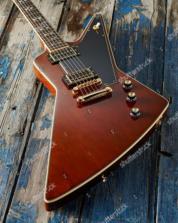 An Epiphone Ltd Edition Lee Malia Explorer Custom Artisan Outfit Electric Guitar
