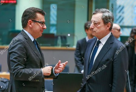 Roman Escolano and Mario Draghi