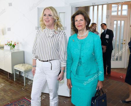 Editorial image of Queen Silvia visit to Silviahemmet, Stockholm, Sweden - 24 May 2018