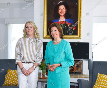 Editorial photo of Queen Silvia visit to Silviahemmet, Stockholm, Sweden - 24 May 2018