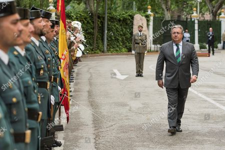Spanish Interior Minister, Juan Ignacio Zoido (R), attends the ceremony held on occasion of the 174th anniversary of the Civil Guard corps in Seville, Spain, 24 May 2018. EFE/ Raul Caro