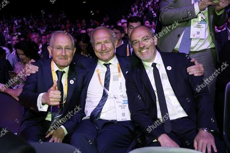 Philippe Wahl Chairman and CEO La Poste Group, Jean-Paul Agon CEO L'Oreal and Stephane Richard Chairman and CEO Orange