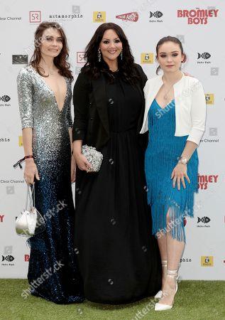 Anna Danshina, Martine McCutcheon and Savannah Baker
