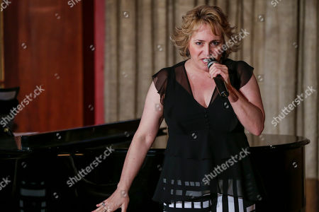 Stock Picture of Patricia Racette presents the new musical evening format that she will offer in her Ballroom at Teatro Real