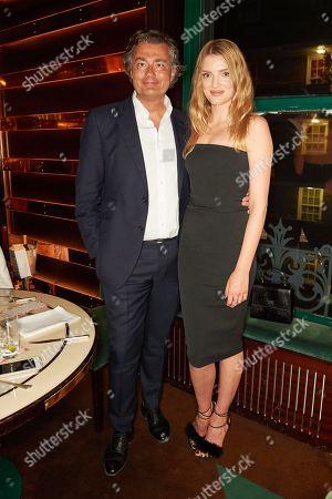 Laurent Feniou and Lily Donaldson
