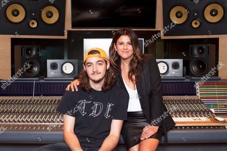 Stock Image of Deacon Frey, Cindy Frey. Deacon Frey, son of the late Eagles co-founder Glenn Frey, left, and his mother Cindy Frey pose for a portrait at Dog House Recording Studio in Los Angeles. Deacon Frey is keeping his dad's legacy alive by touring and performing with the Eagles. Cindy Frey, is the executor of her husband's estate