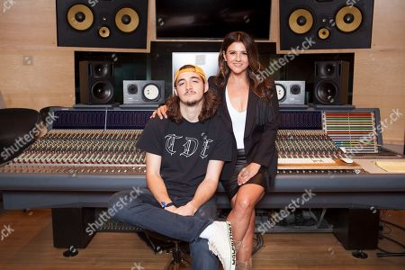 Stock Picture of Deacon Frey, Cindy Frey. Deacon Frey, son of the late Eagles co-founder Glenn Frey, left, and his mother Cindy Frey pose for a portrait at Dog House Recording Studio in Los Angeles. Deacon Frey is keeping his dad's legacy alive by touring and performing with the Eagles. Cindy Frey, is the executor of her husband's estate