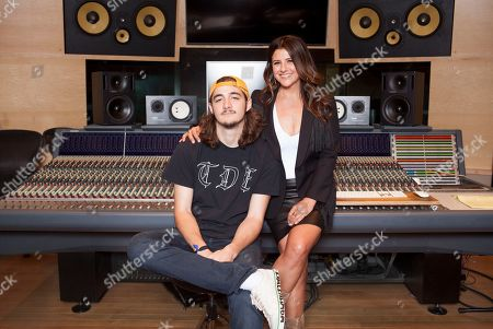 Stock Photo of Deacon Frey, Cindy Frey. Deacon Frey, son of the late Eagles co-founder Glenn Frey, left, and his mother Cindy Frey pose for a portrait at Dog House Recording Studio in Los Angeles. Deacon Frey is keeping his dad's legacy alive by touring and performing with the Eagles. Cindy Frey, is the executor of her husband's estate