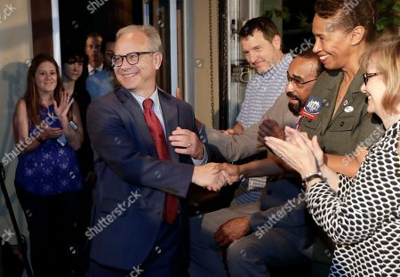 David Briley. Nashville, Tenn., Mayor David Bailey is congratulated as he arrives to speak to supporters after winning a special election, in Nashville. Briley took over as the city's mayor in early March after Megan Barry who pleaded guilty to a felony and resigned amid an extramarital affair with her bodyguard