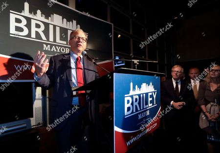 Nashville, Tenn. Mayor David Briley speaks to supporters after winning a special election to remain as mayor, in Nashville, Tenn. Briley took over as the city's mayor in early March after Megan Barry resigned from her position as part of a plea agreement for felony theft charges