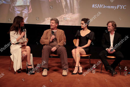 Bethenny Frankel, John Wells, Creator/Executive Producer, Emmy Rossum and William H. Macy at the showtime Emmy FYC screening of Shameless at the Linwood Dunn Theatre in Hollywood, CA on May 24, 2018