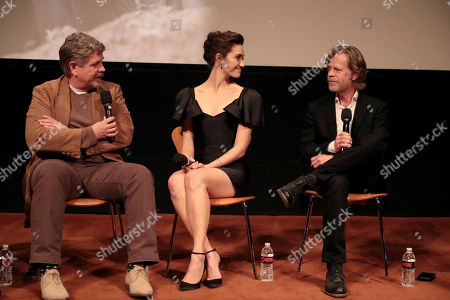 John Wells, Creator/Executive Producer, Emmy Rossum and William H. Macy at the showtime Emmy FYC screening of Shameless at the Linwood Dunn Theatre in Hollywood, CA on May 24, 2018