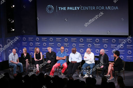 David Simon, Julie Martin,Anya Epstein, Richard Belzer, Clark Johnson, Andre Braugher, Tom Fontana, Barry Levinson and Courtney Kemp Agboh
