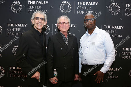 Richard Belzer, Barry Levinson and Andre Braugher