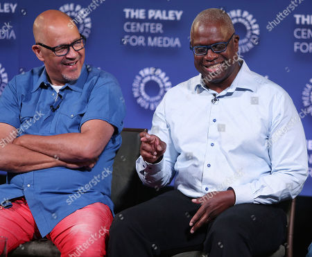 Stock Picture of Clark Johnson and Andre Braugher