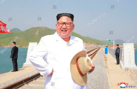 North Korean leader Kim Jong Un inspects the completed Koam-Tapchon Railways, Gangwon-do