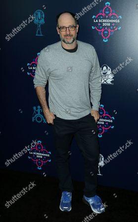 Matt Selman arrives at the 2018 20th Century Fox Television LA Screenings at the Fox Studios, in Los Angeles